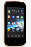 Wiko Cink Slim - Android Mobile Phone isolated. The Wiko Cink Slim is a touchscreen-enabled, slate-format Android smartphone designed, developed, and marketed by royalty free stock photo