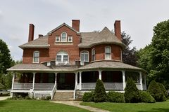 Wikstrom Manor. This is a Spring picture of the iconic Wikstrom Manor located in Momence, Illinois in Kankakee County.  This brick Victorian was designed by a Stock Images