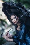 Wiktoriańska dama w błękicie Fotografia Royalty Free