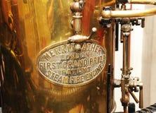 Wiktoriańska pożarnicza pompa zdjęcie royalty free