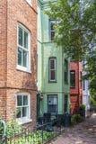 Wiktoriański domy w Georgetown, stara część Waszyngton obrazy stock