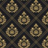 Wiktoriański królewski deseniowy bezszwowy barok ilustracji