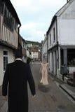 Wiktoriański mężczyzna czekanie dla panny młodej Zdjęcia Royalty Free