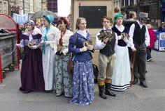 Wiktoriański przy Edynburg festiwalu kranem obrazy royalty free