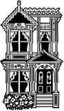 Wiktoriański rzędu dom Zdjęcia Royalty Free