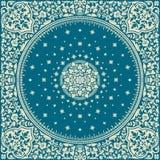 Wiktoriańskiego kwiecistego Paisley medalionu dywanika ornamentacyjny wektor ethnic ilustracji