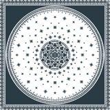 Wiktoriańskiego kwiecistego Paisley medalionu dywanika ornamentacyjny wektor ethnic royalty ilustracja