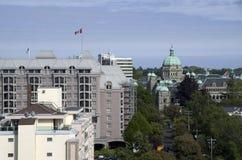 Wiktoria BC z Brytyjskimi parlamentów budynkami w środku Fotografia Stock