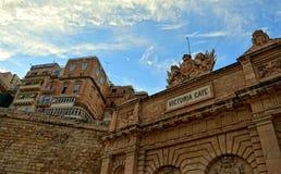 Wiktoria brama, los angeles Valletta Obraz Stock