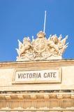 Wiktoria brama - Średniowieczny stary miasta miasteczko los angeles Valletta w Malta Zdjęcia Royalty Free