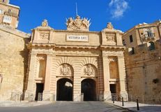 Wiktoria brama w Valletta Obraz Royalty Free