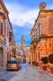 Wiktoria, Gozo, Malta: Wąskie ulicy citadella Obrazy Royalty Free