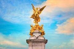 Wiktoria pomnik przy centrum handlowe drogą przed buckingham palace, Londyn Zdjęcie Royalty Free