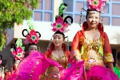WIKTORIA, SEYCHELLES †'Kwiecień 26, 2014: Chińczyk grupa przy Ca Zdjęcie Royalty Free