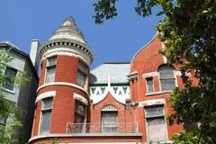 Wiktoriańska fasada w Starym Louisville, Kentucky, usa Fotografia Royalty Free