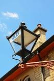 Wiktoriański lampion na kolejowym budynku Obrazy Royalty Free
