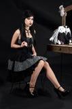 wiktoriańskie gothic kobieta Obraz Royalty Free