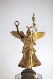 Wiktoria statua na górze zwycięstwo kolumny Zdjęcie Royalty Free
