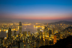 WIKTORIA szczyt, HONG KONG Obraz Stock