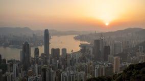 WIKTORIA szczyt, HONG KONG Zdjęcie Royalty Free