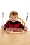 Wil lapje vlees Royalty-vrije Stock Foto's