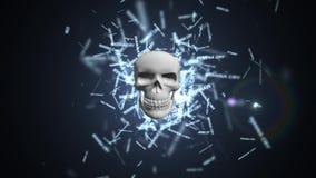 Wil schreeuwen Het virus van de computer Het besmetten van het gegevensbestand en de servers stock illustratie