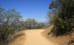 Wilacre Park Trail. Trail along a hillside in an urban park, California Stock Photography