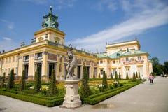 Wilanà ³ w城堡或Wilanowski宫殿在华沙在波兰,欧洲 库存图片