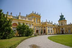 Wilanów castle or Wilanowski palace in Warsaw in Poland, Europe stock image