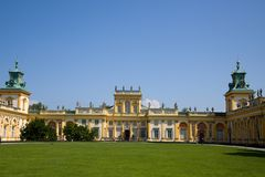 Wilanów castle or Wilanowski palace in Warsaw in Poland, Europe royalty free stock photography