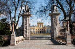 Wilanów Palace Gate Royalty Free Stock Photo