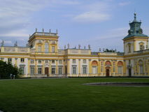 Wilanów Palace. Restored 17th-century royal palace with a museum of fine arts, a baroque garden & a landscaped park Royalty Free Stock Images