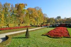 Wilanow宫殿-公园 免版税库存照片