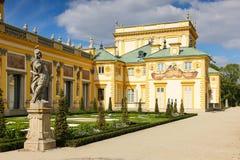 Wilanow宫殿&庭院。 华沙。 波兰。 图库摄影