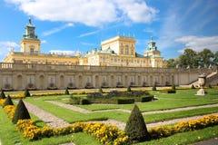 Wilanow宫殿&庭院。 华沙。 波兰。 库存照片