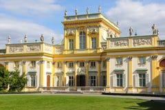 Wilanow宫殿&庭院。 华沙。 波兰。 免版税库存照片