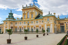 Wilanow宫殿&庭院。 华沙。 波兰。 库存图片