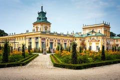 Wilanow王宫在华沙 免版税图库摄影