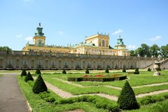 wilanow Польши warsaw дворца Стоковая Фотография RF
