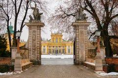 Wilanow pałac Zdjęcie Stock