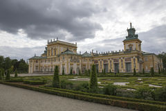 Wilanow pałac i ogród Fotografia Stock