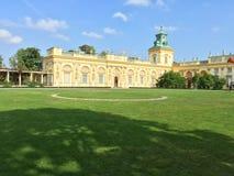 Wilanow pałac w Warszawskim Polska Zdjęcia Stock