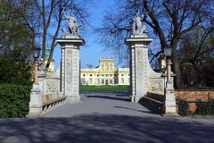 Wilanow Palace. In Warsaw, Poland. Old residence of magnates. There is part of National Museum today stock images