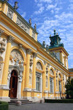 Wilanow palace. On the blue sky Royalty Free Stock Photo