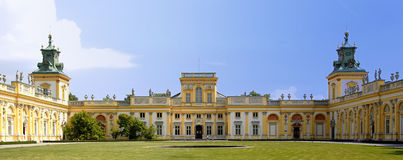 Wilanow Palace. View of the historic Wilanow Palace, the Polish Versaille Royalty Free Stock Images