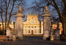 Wilanow Palace gate Stock Photos