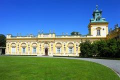 Wilanow palace near Warsaw, Poland stock image