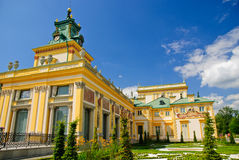 Wilanow palace - south side and clock tower, Warsaw Stock Photos