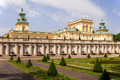 Wilanow Palace in Warsaw, Poland. Baroque Wilanow Palace in Warsaw, Poland, built by Polish king Jan III Sobieski Stock Photography
