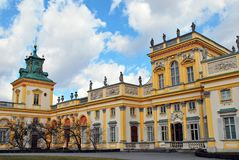 Wilanow Palace stock photography
